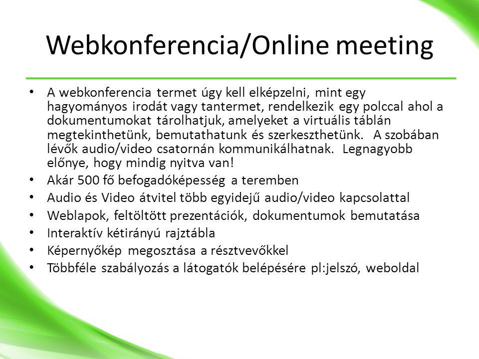 Webkonferencia/Online meeting