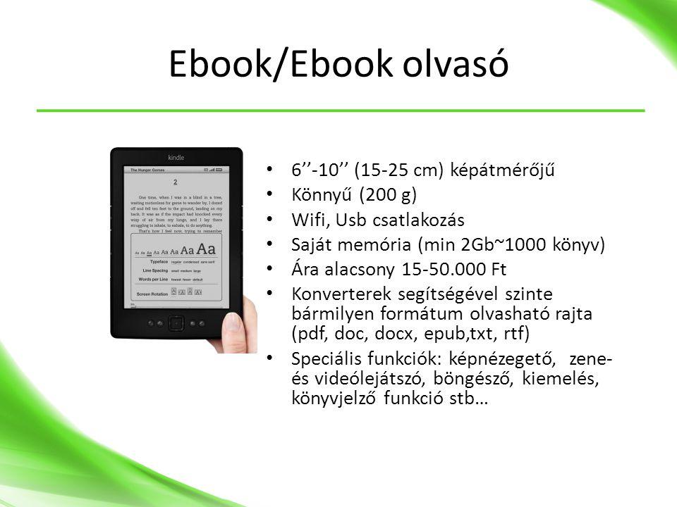 Ebook/Ebook olvasó 6''-10'' (15-25 cm) képátmérőjű Könnyű (200 g)