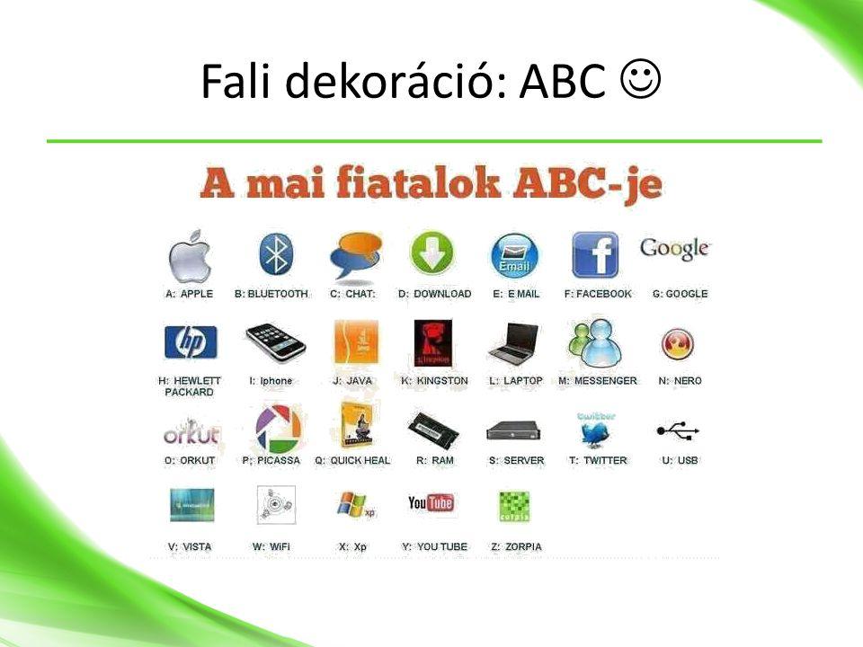Fali dekoráció: ABC 