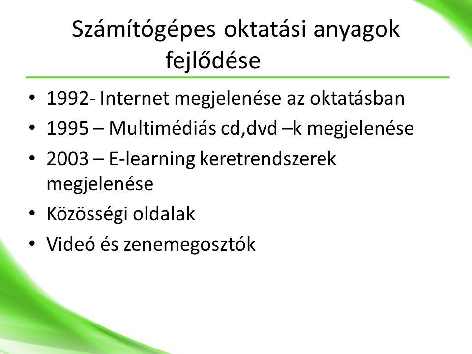 Számítógépes oktatási anyagok fejlődése
