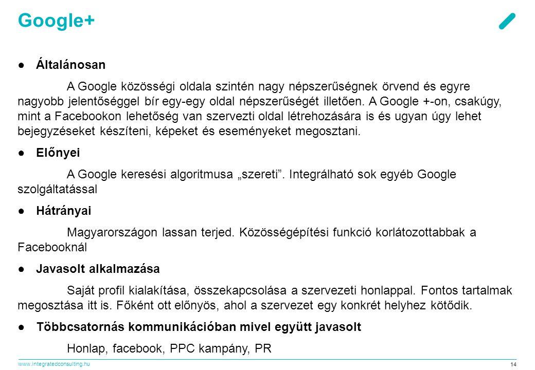 Google+ Általánosan.