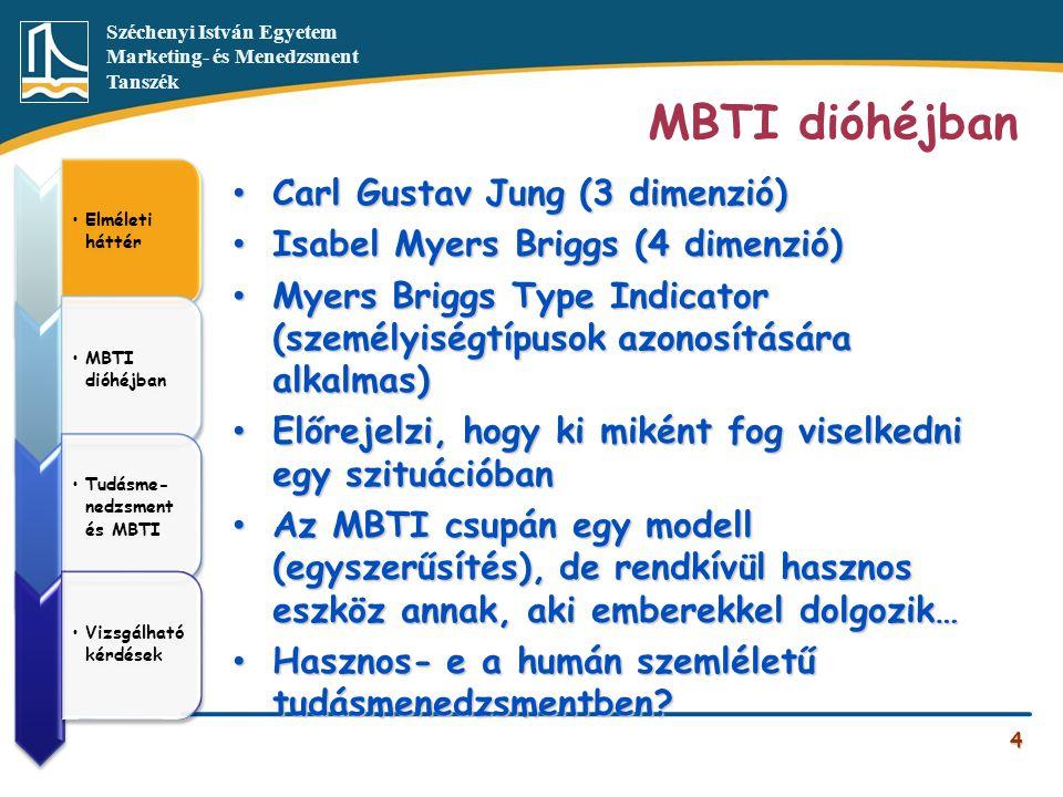 MBTI dióhéjban Carl Gustav Jung (3 dimenzió)