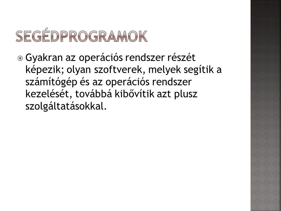 Segédprogramok
