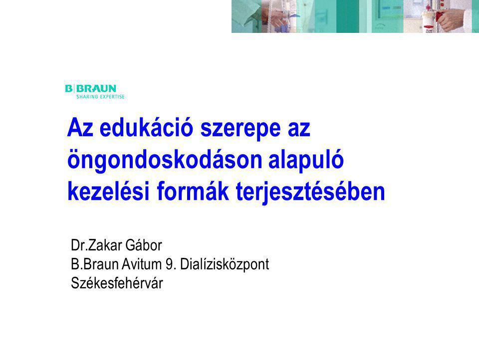 Dr.Zakar Gábor B.Braun Avitum 9. Dialízisközpont Székesfehérvár