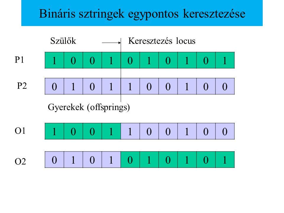 Bináris sztringek egypontos keresztezése