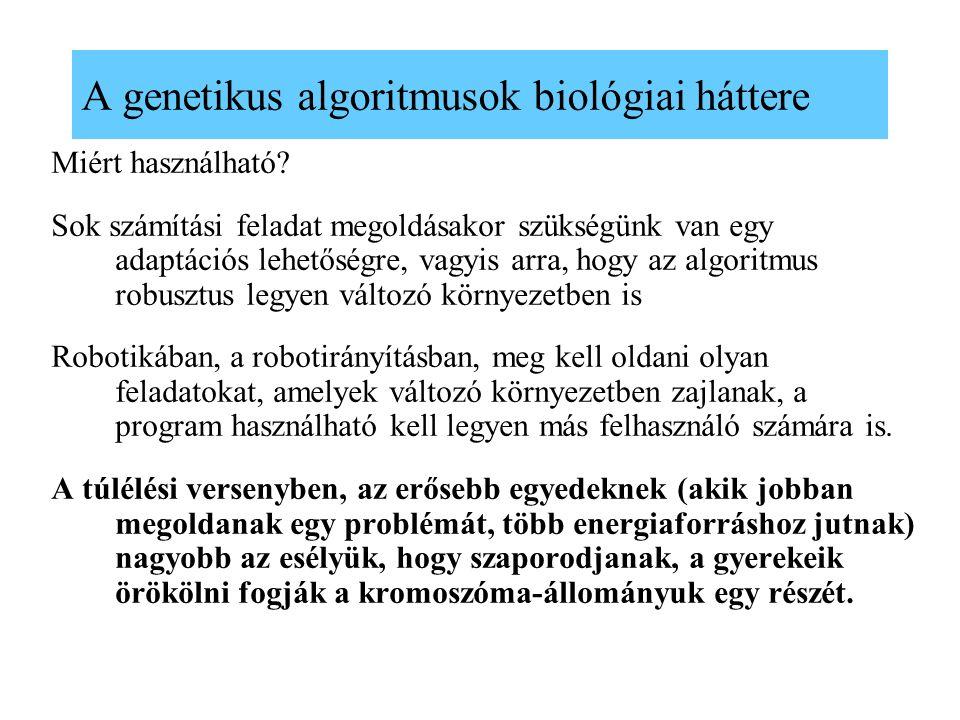 A genetikus algoritmusok biológiai háttere
