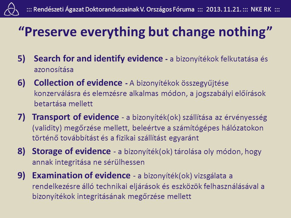 Preserve everything but change nothing