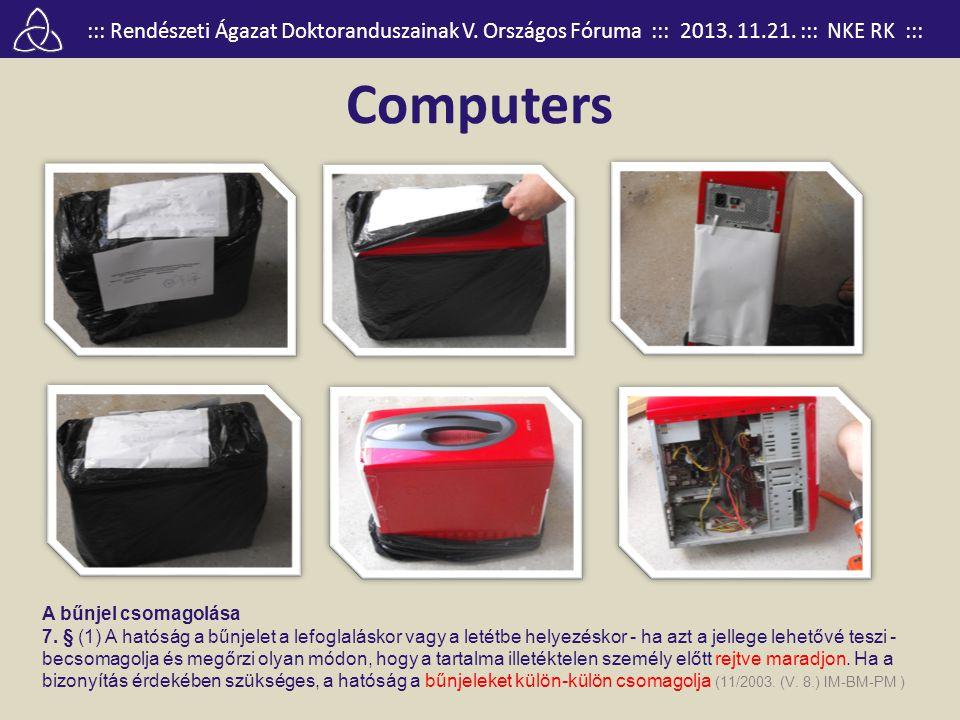 Computers A bűnjel csomagolása