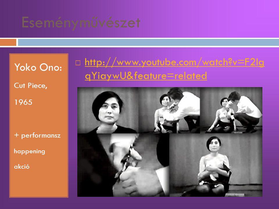 Eseményművészet Yoko Ono: