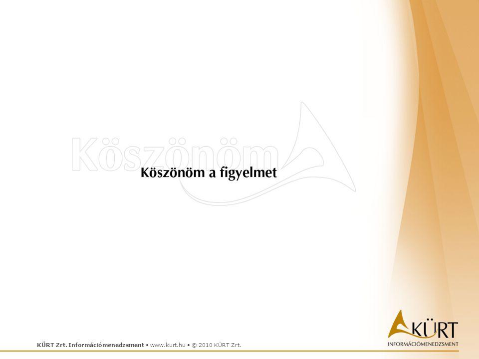 KÜRT Zrt. Információmenedzsment • www.kurt.hu • © 2010 KÜRT Zrt.