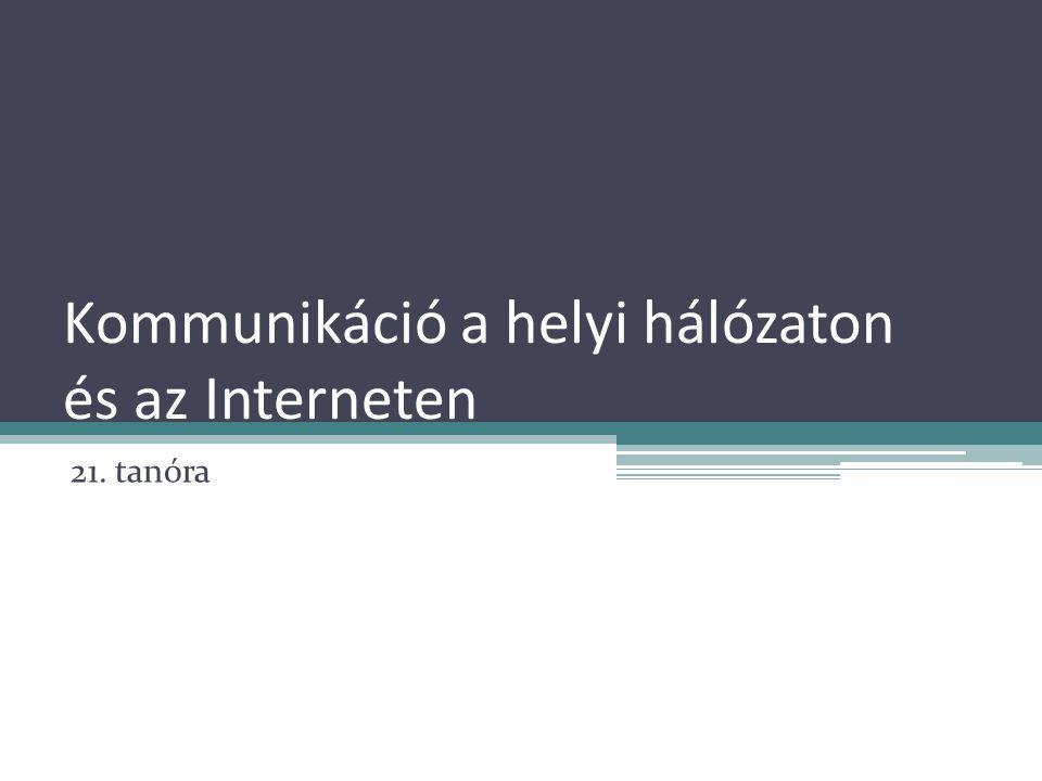Kommunikáció a helyi hálózaton és az Interneten