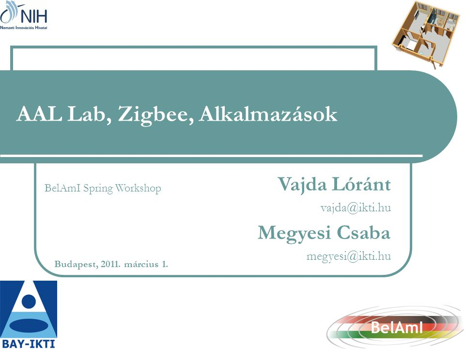 AAL Lab, Zigbee, Alkalmazások