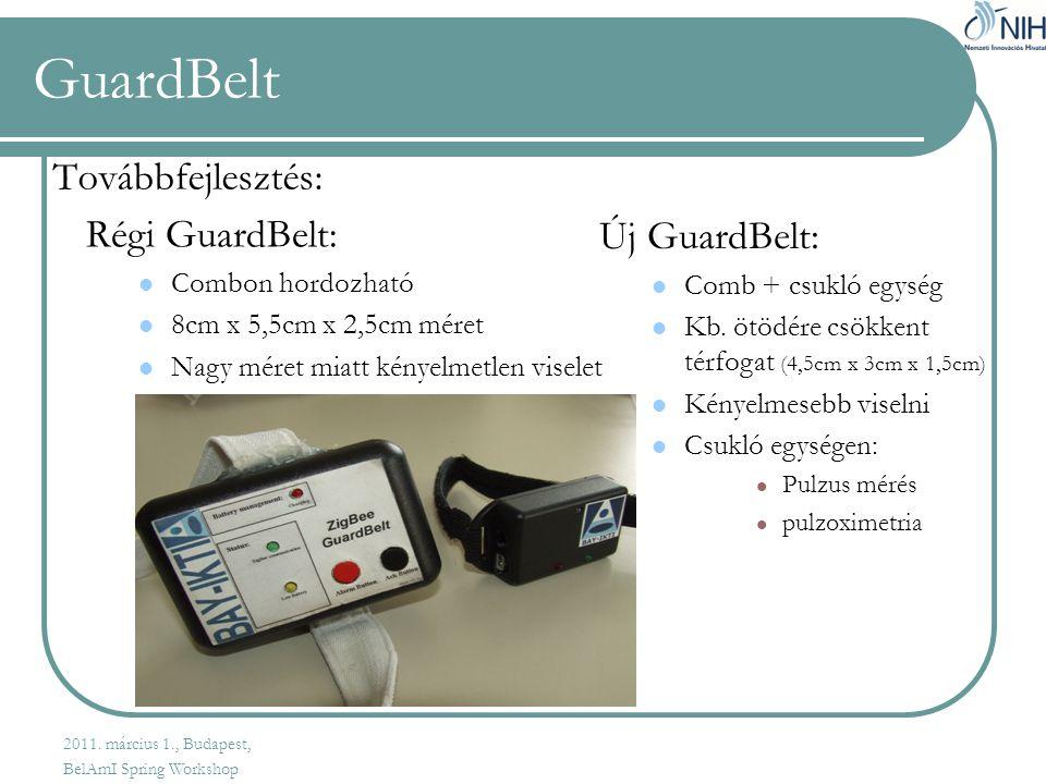 GuardBelt Továbbfejlesztés: Régi GuardBelt: Új GuardBelt: