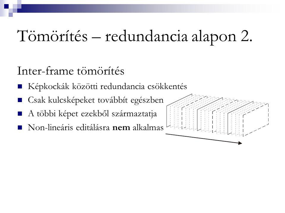 Tömörítés – redundancia alapon 2.