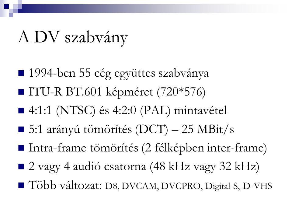 A DV szabvány 1994-ben 55 cég együttes szabványa