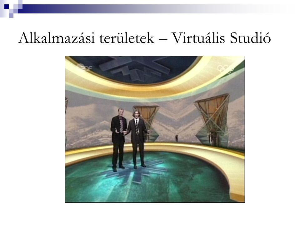 Alkalmazási területek – Virtuális Studió