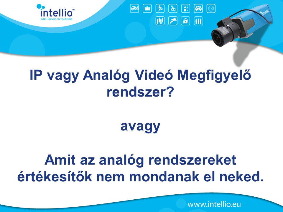 IP vagy Analóg Videó Megfigyelő rendszer