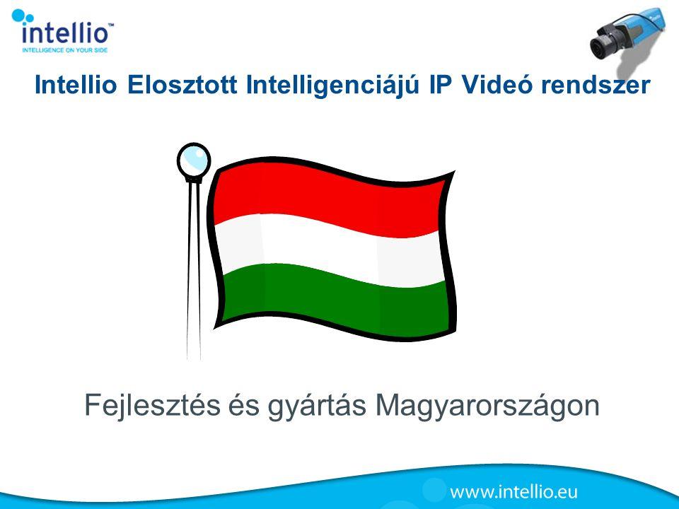 Intellio Elosztott Intelligenciájú IP Videó rendszer