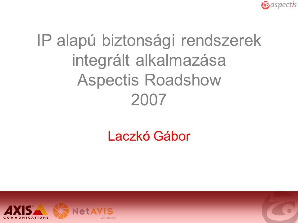 IP alapú biztonsági rendszerek integrált alkalmazása Aspectis Roadshow 2007