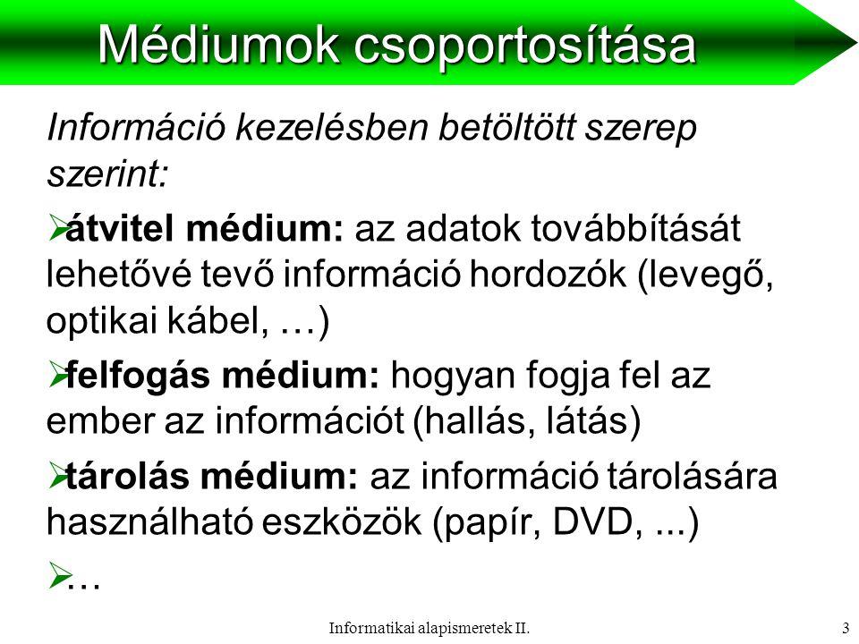 Médiumok csoportosítása