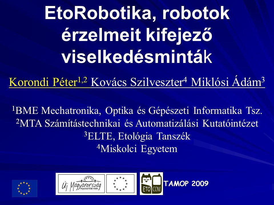 EtoRobotika, robotok érzelmeit kifejező viselkedésminták