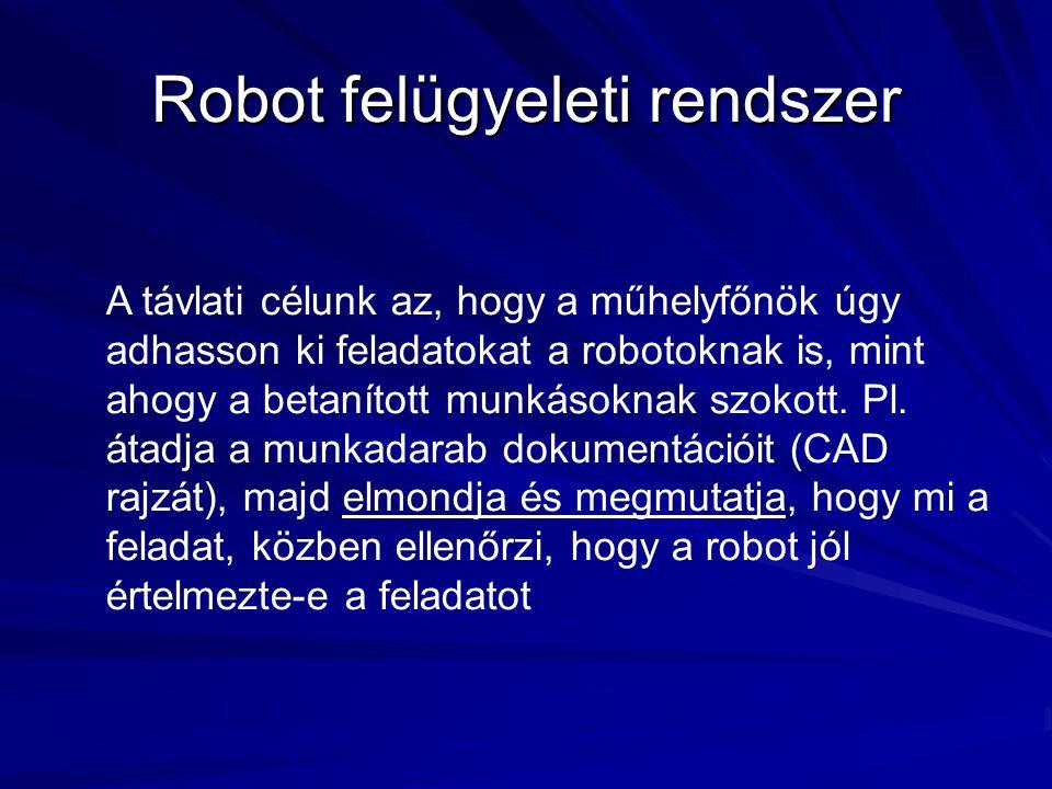 Robot felügyeleti rendszer