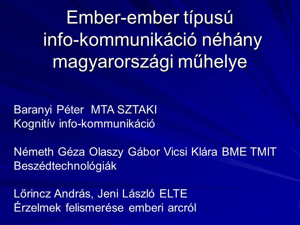 Ember-ember típusú info-kommunikáció néhány magyarországi műhelye