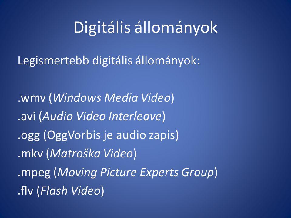 Digitális állományok