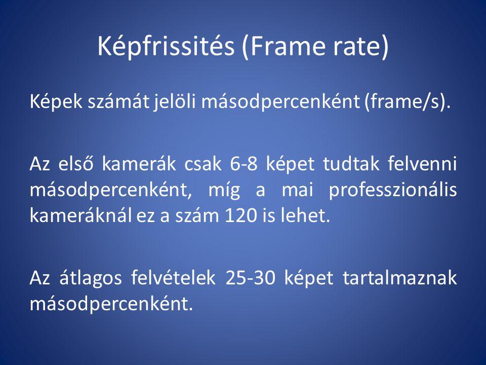 Képfrissités (Frame rate)