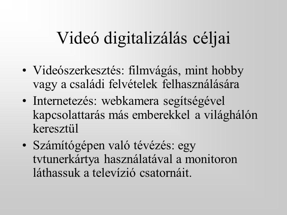 Videó digitalizálás céljai