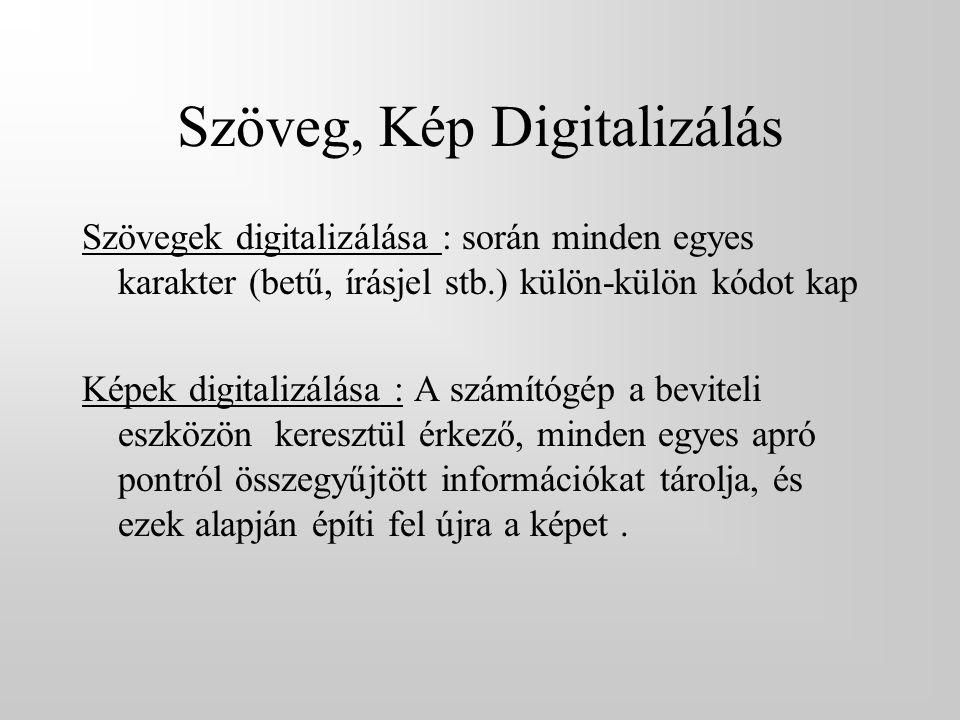Szöveg, Kép Digitalizálás