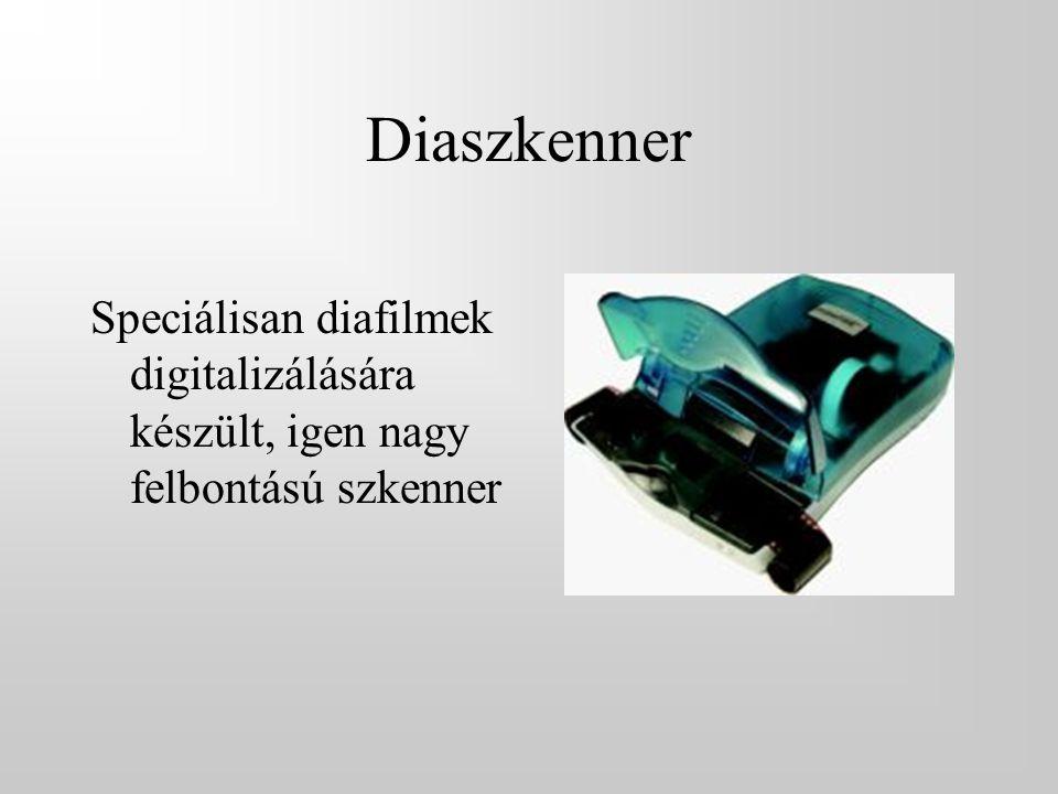 Diaszkenner Speciálisan diafilmek digitalizálására készült, igen nagy felbontású szkenner