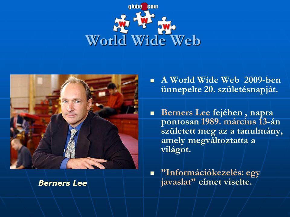 World Wide Web A World Wide Web 2009-ben ünnepelte 20. születésnapját.