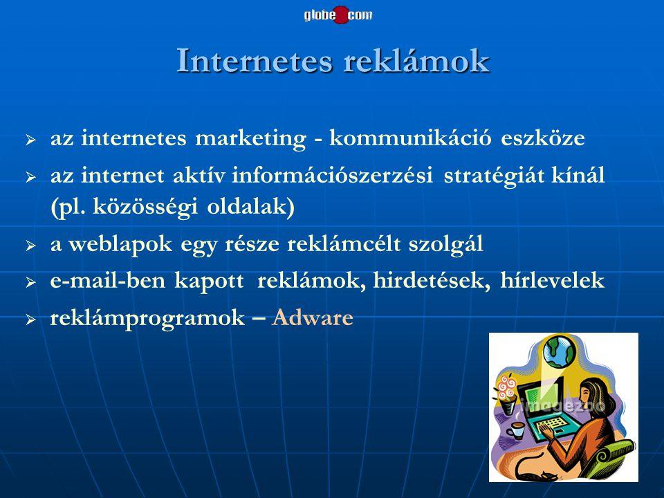 Internetes reklámok az internetes marketing - kommunikáció eszköze