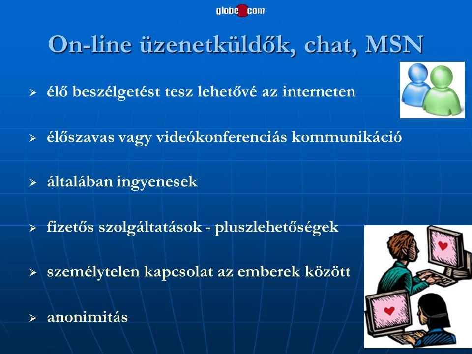 On-line üzenetküldők, chat, MSN