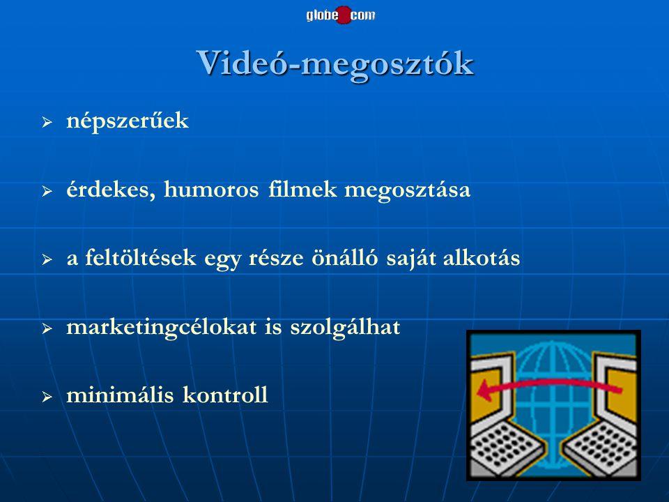 Videó-megosztók népszerűek érdekes, humoros filmek megosztása