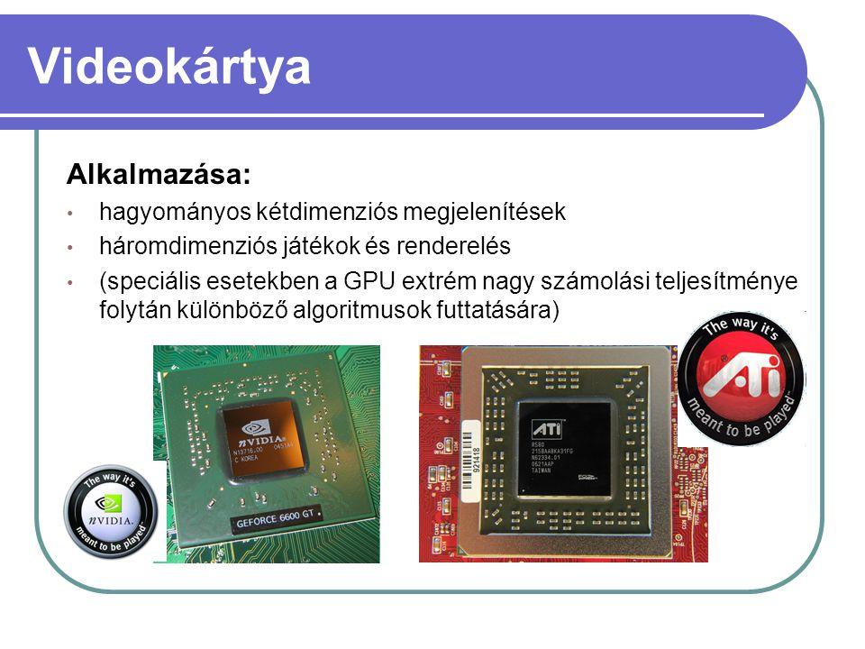Videokártya Alkalmazása: hagyományos kétdimenziós megjelenítések