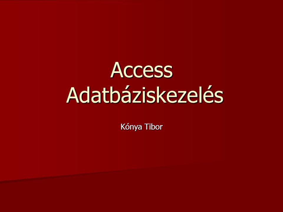 Access Adatbáziskezelés