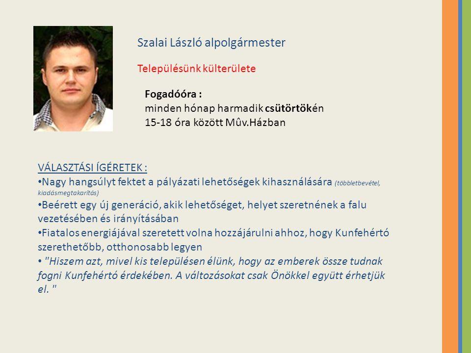 Szalai László alpolgármester