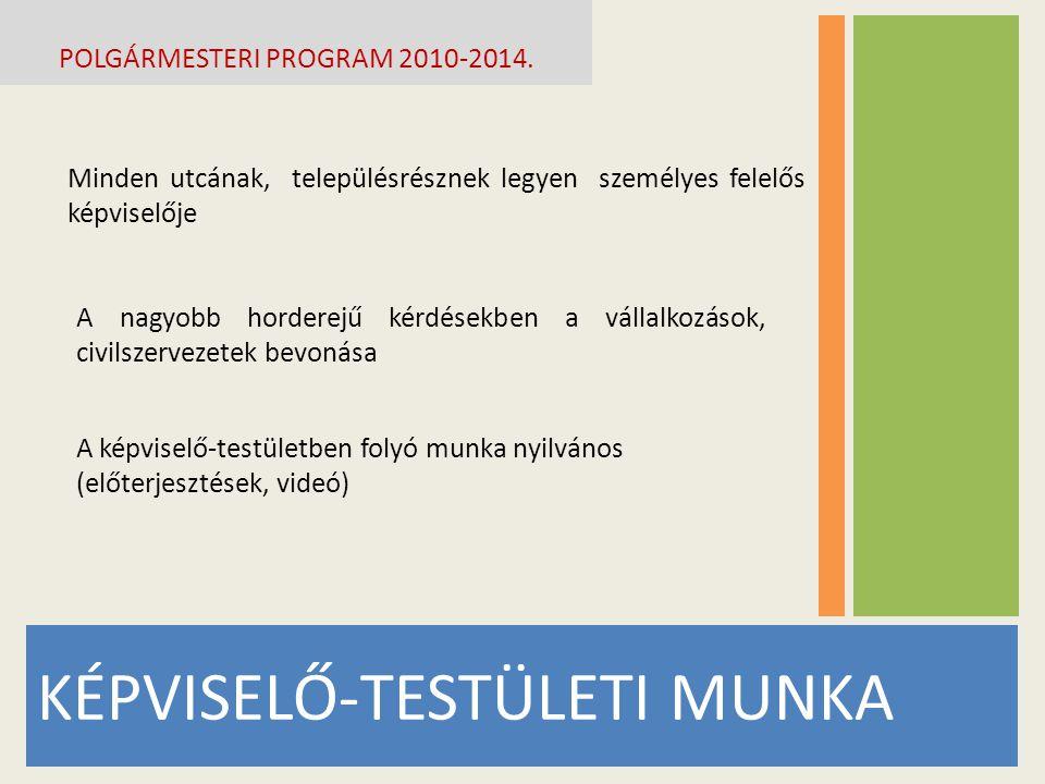 POLGÁRMESTERI PROGRAM 2010-2014.