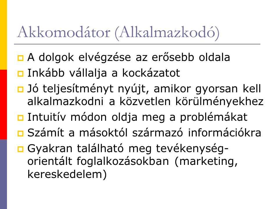 Akkomodátor (Alkalmazkodó)