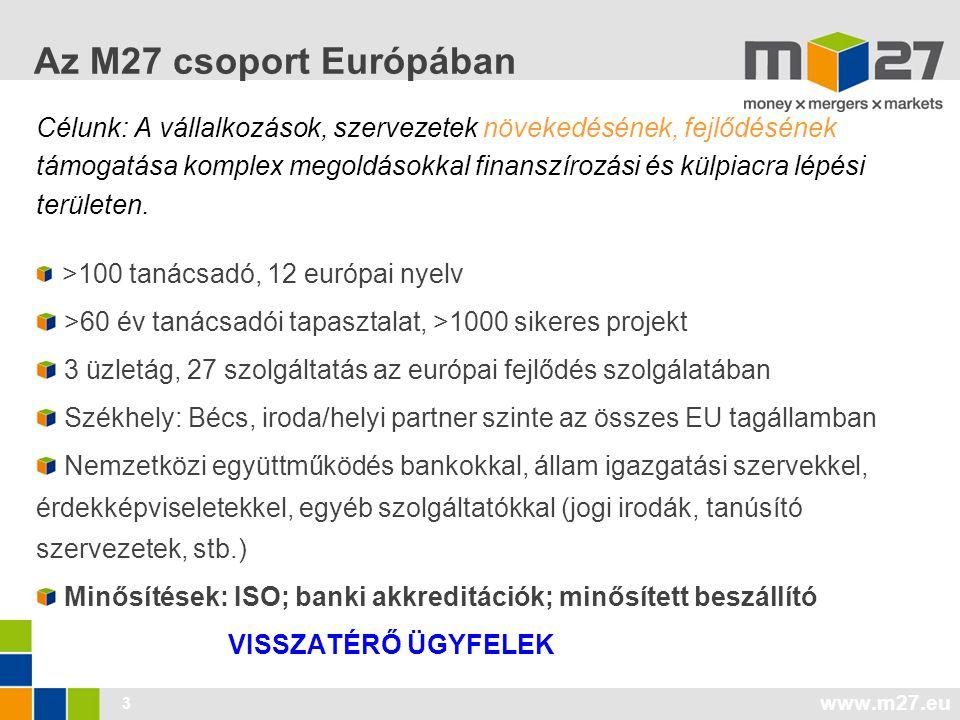 Az M27 csoport Európában