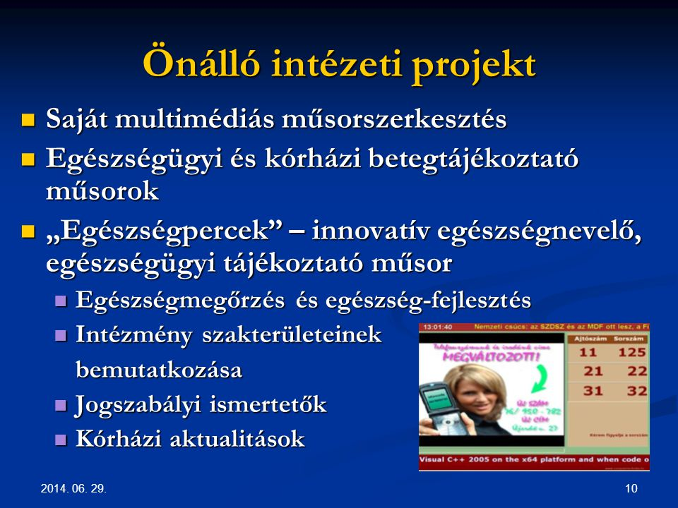 Önálló intézeti projekt