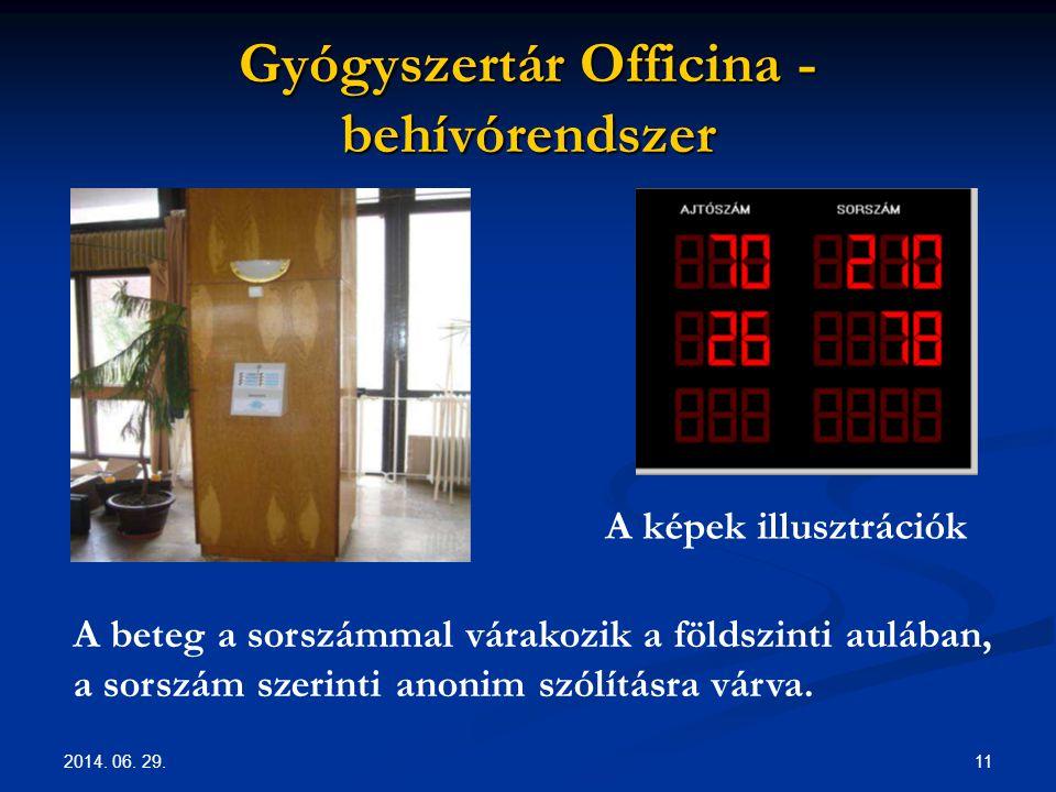 Gyógyszertár Officina - behívórendszer
