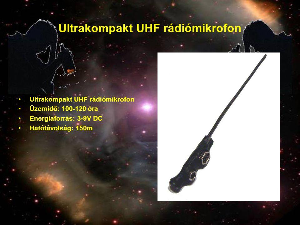 Ultrakompakt UHF rádiómikrofon