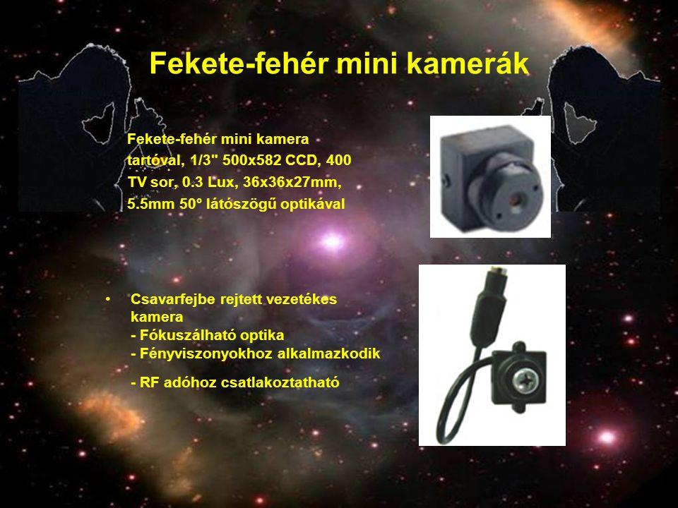 Fekete-fehér mini kamerák