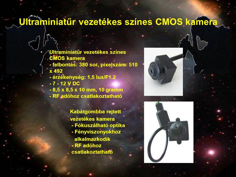 Ultraminiatűr vezetékes színes CMOS kamera