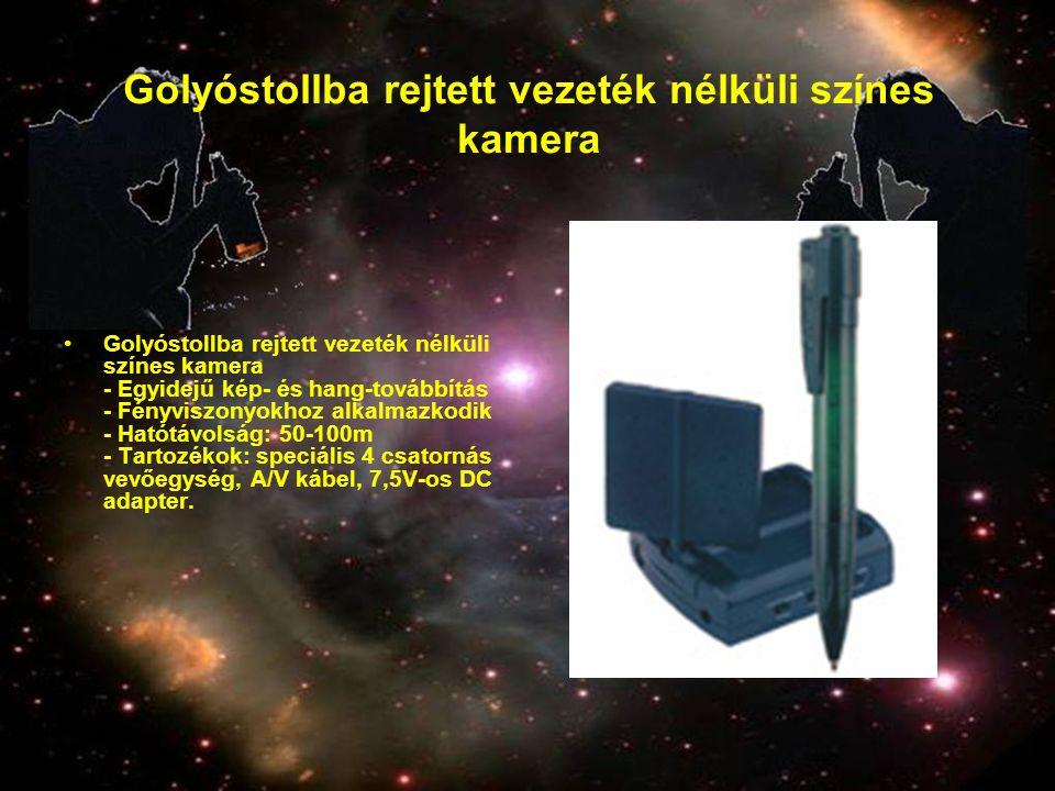 Golyóstollba rejtett vezeték nélküli színes kamera