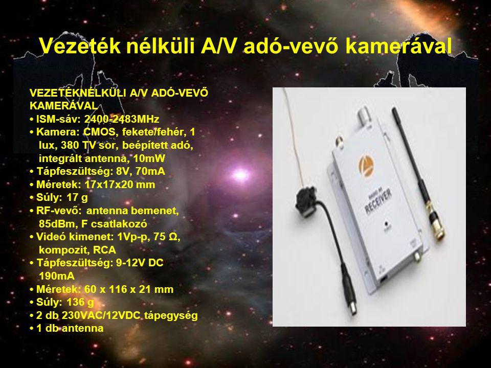 Vezeték nélküli A/V adó-vevő kamerával
