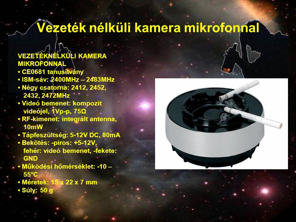 Vezeték nélküli kamera mikrofonnal